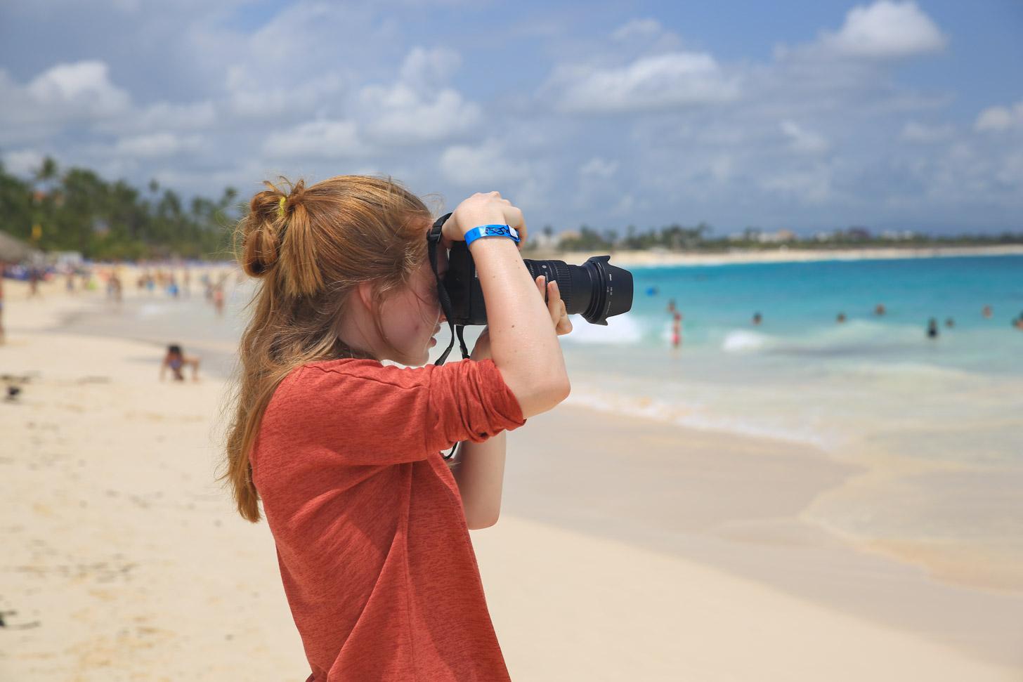 Fotograferen op het strand van Punta Cana