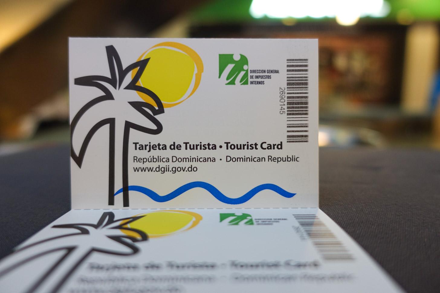 Een toeristenkaart voor de Dominicaanse Republiek